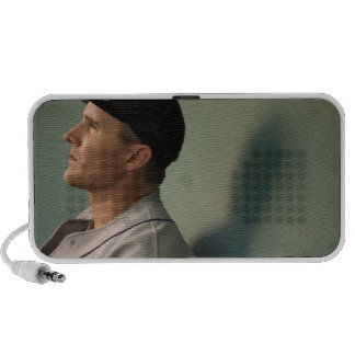 USA, California, San Bernardino, baseball player Notebook Speakers