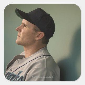 USA, California, San Bernardino, baseball player Square Sticker