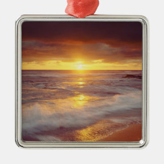 USA, California, San Diego. Sunset Cliffs beach Christmas Ornament