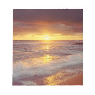 USA, California, San Diego. Sunset Cliffs beach Notepad