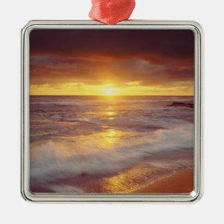 USA, California, San Diego. Sunset Cliffs beach Silver-Colored Square Decoration