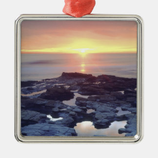 USA, California, San Diego. Sunset Cliffs tide Christmas Ornament