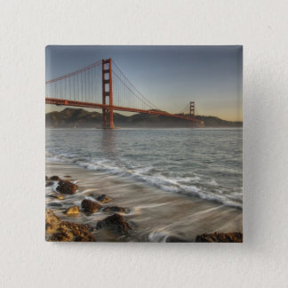 USA, California, San Francisco.  A scenic view 15 Cm Square Badge
