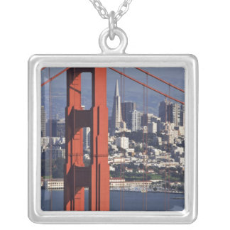 USA, California, San Francisco. Aerial view of Silver Plated Necklace