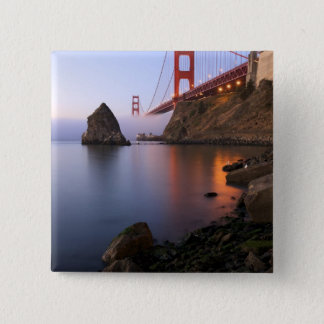 USA, California, San Francisco. Golden Gate 15 Cm Square Badge