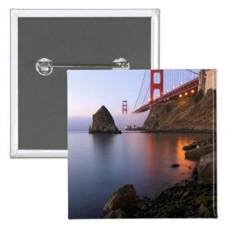 USA, California, San Francisco. Golden Gate 15 Cm Square Badge
