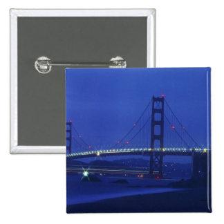 USA, California, San Francisco. Golden Gate 2 15 Cm Square Badge