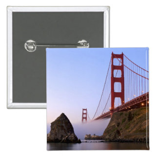 USA, California, San Francisco. Golden Gate 3 15 Cm Square Badge