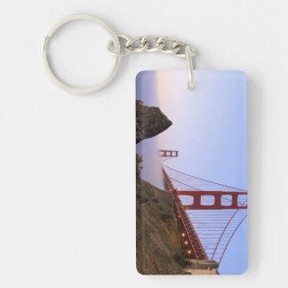 USA, California, San Francisco. Golden Gate 3 Double-Sided Rectangular Acrylic Key Ring