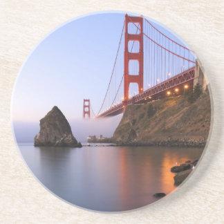 USA, California, San Francisco. Golden Gate Drink Coasters