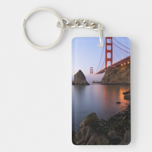 USA, California, San Francisco. Golden Gate Rectangle Acrylic Keychain