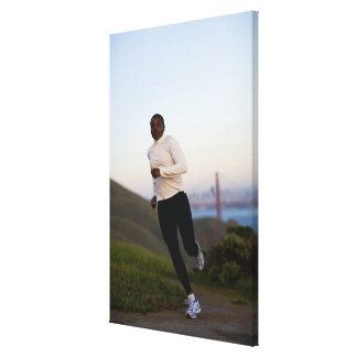 USA, California, San Francisco, Woman jogging, Canvas Print