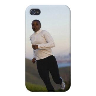 USA, California, San Francisco, Woman jogging, iPhone 4 Cases