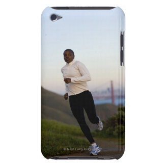 USA, California, San Francisco, Woman jogging, iPod Touch Covers