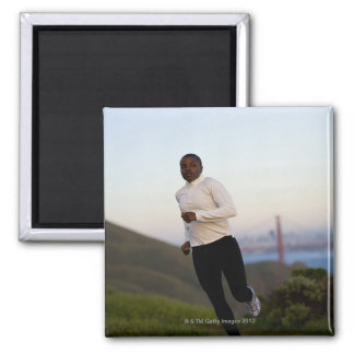 USA, California, San Francisco, Woman jogging, Magnet
