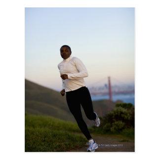 USA, California, San Francisco, Woman jogging, Postcard