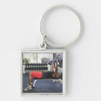 USA, California, San Luis Obispo Silver-Colored Square Key Ring