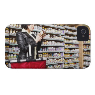 USA, California, San Rafael, Woman shopping in Case-Mate iPhone 4 Cases