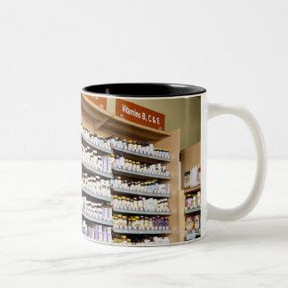 USA, California, San Rafael, Woman shopping in Two-Tone Coffee Mug