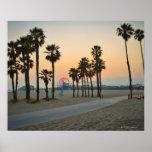 USA, California, Santa Monica Pier at sunset