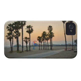 USA, California, Santa Monica Pier at sunset iPhone 4 Cases