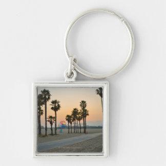 USA, California, Santa Monica Pier at sunset Key Ring