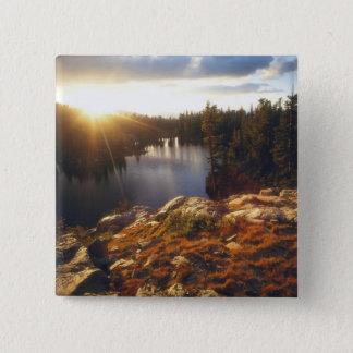 USA, California, Sierra Nevada Mountains. Sunset 15 Cm Square Badge