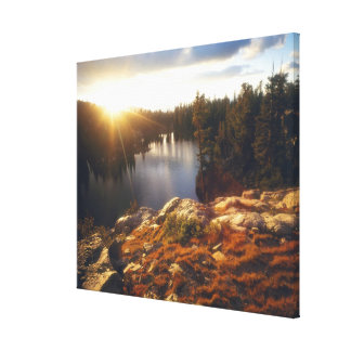 USA, California, Sierra Nevada Mountains. Sunset Gallery Wrapped Canvas