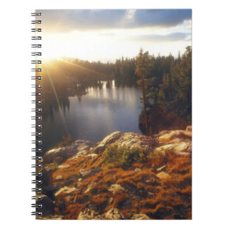 USA, California, Sierra Nevada Mountains. Sunset Notebooks