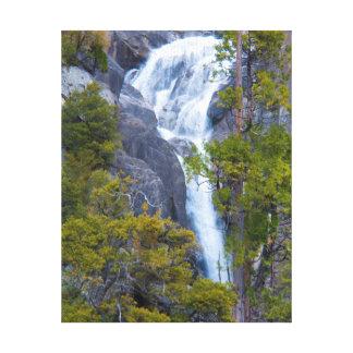 USA, California. Small Waterfall In Yosemite Canvas Print