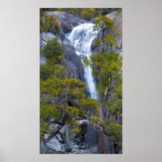 USA, California. Small Waterfall In Yosemite Poster