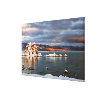 USA, California, Sunrise at Mono Lake Canvas Prints
