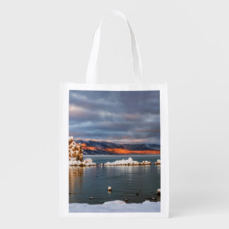 USA, California, Sunrise at Mono Lake Reusable Grocery Bag