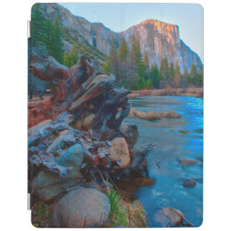 USA, California. Tree Roots In Merced River iPad Cover