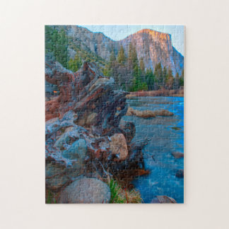 USA, California. Tree Roots In Merced River Jigsaw Puzzle