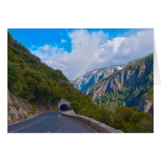 USA, California. Tunnel On The Road To Yosemite Card