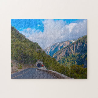USA, California. Tunnel On The Road To Yosemite Jigsaw Puzzle