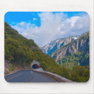 USA, California. Tunnel On The Road To Yosemite Mouse Mat