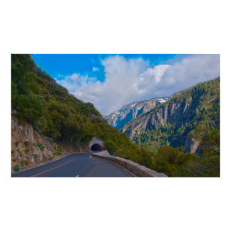 USA, California. Tunnel On The Road To Yosemite Poster