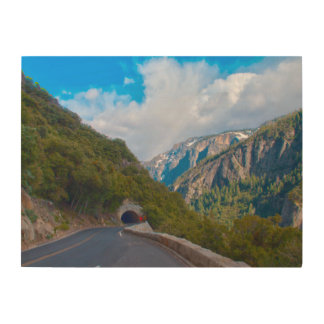 USA, California. Tunnel On The Road To Yosemite Wood Wall Art