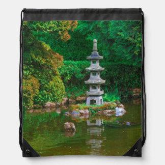 USA, California. View Of A Pond Drawstring Bag