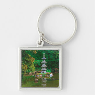 USA, California. View Of A Pond Key Ring