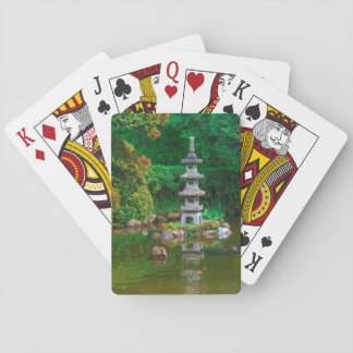 USA, California. View Of A Pond Playing Cards