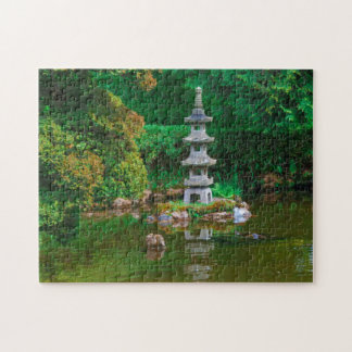 USA, California. View Of A Pond Puzzles
