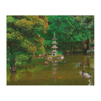 USA, California. View Of A Pond Wood Canvases