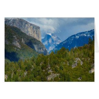 USA, California. View Of Half Dome In Yosemite Card