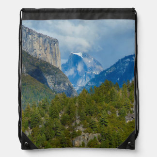USA, California. View Of Half Dome In Yosemite Drawstring Bag
