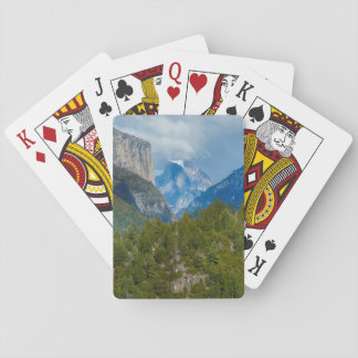 USA, California. View Of Half Dome In Yosemite Playing Cards