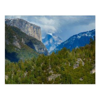 USA, California. View Of Half Dome In Yosemite Postcard