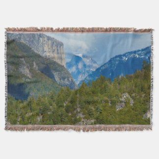 USA, California. View Of Half Dome In Yosemite Throw Blanket